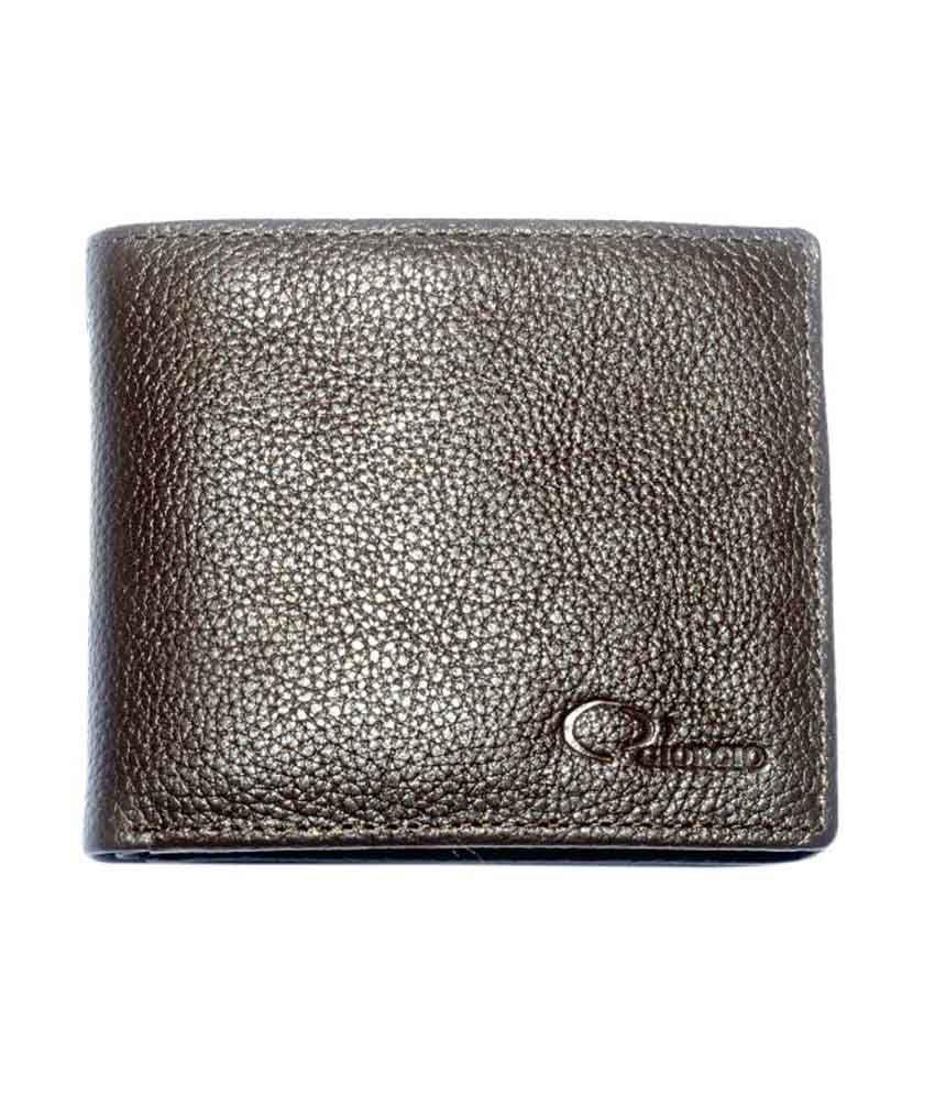 Thameem Leather Wares Brown Leather Regular Wallet