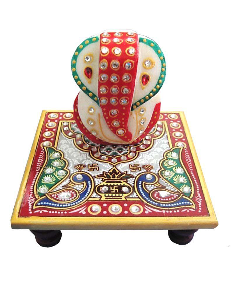 Artisan Glossy Marble Ganesha Idol