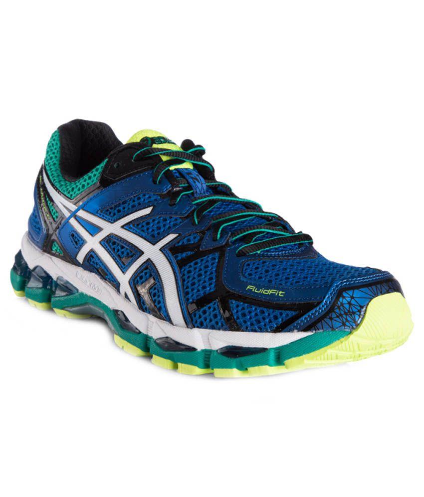 asics gel kayano 21 blue running shoes