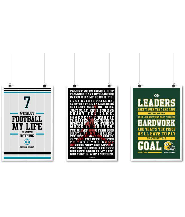 84d253c7c499f Lab No. 4 Sports Motivational Quotes Poster - Set of 3