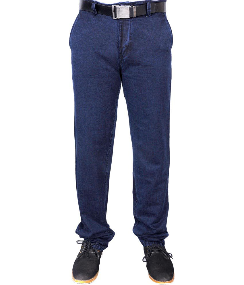 Quark Jeans Dark Blue Regular Cotton Stretchable Jeans