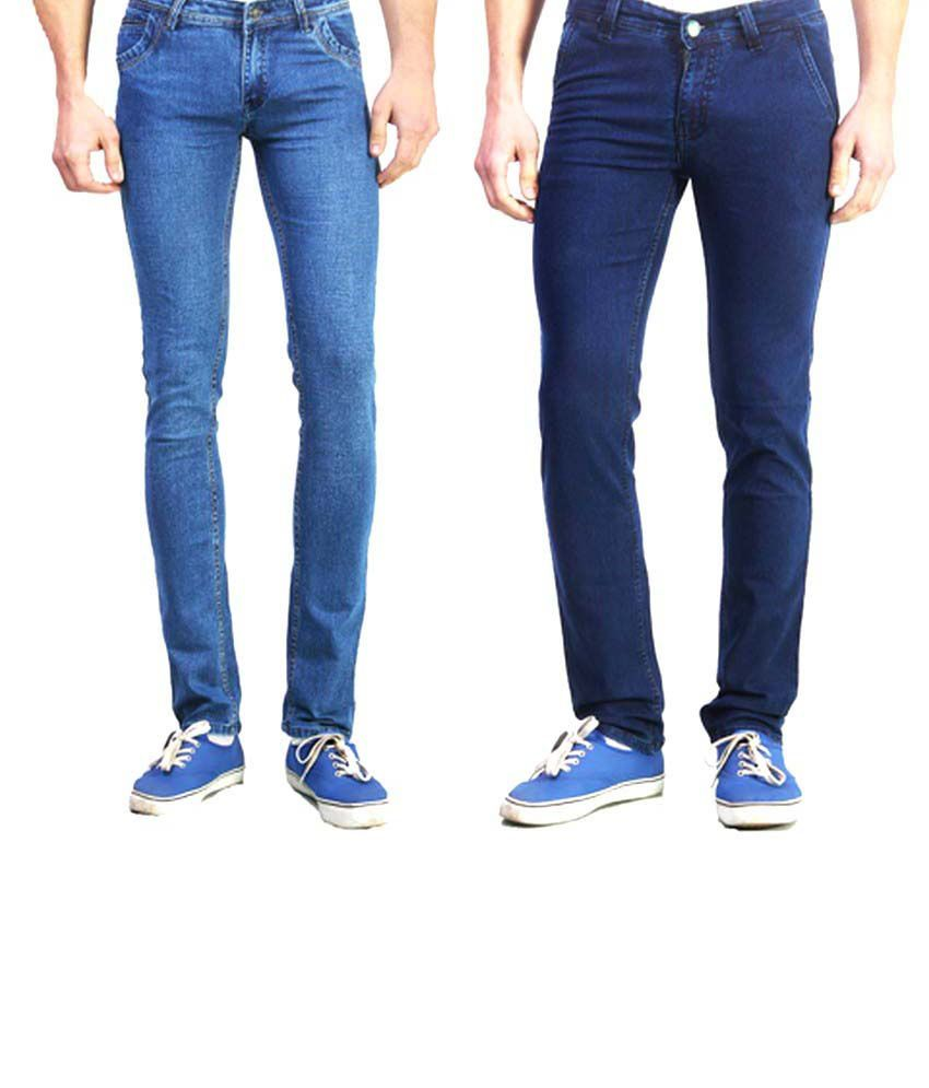 Skeeper Blue Cotton Skinny Fit Jeans Pack Of 2