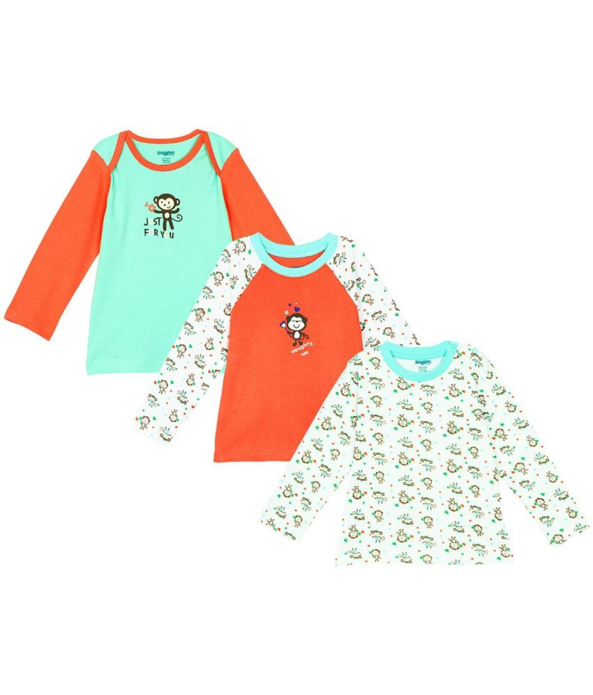 Snuggles baby tshirt For Kids Set Of 3
