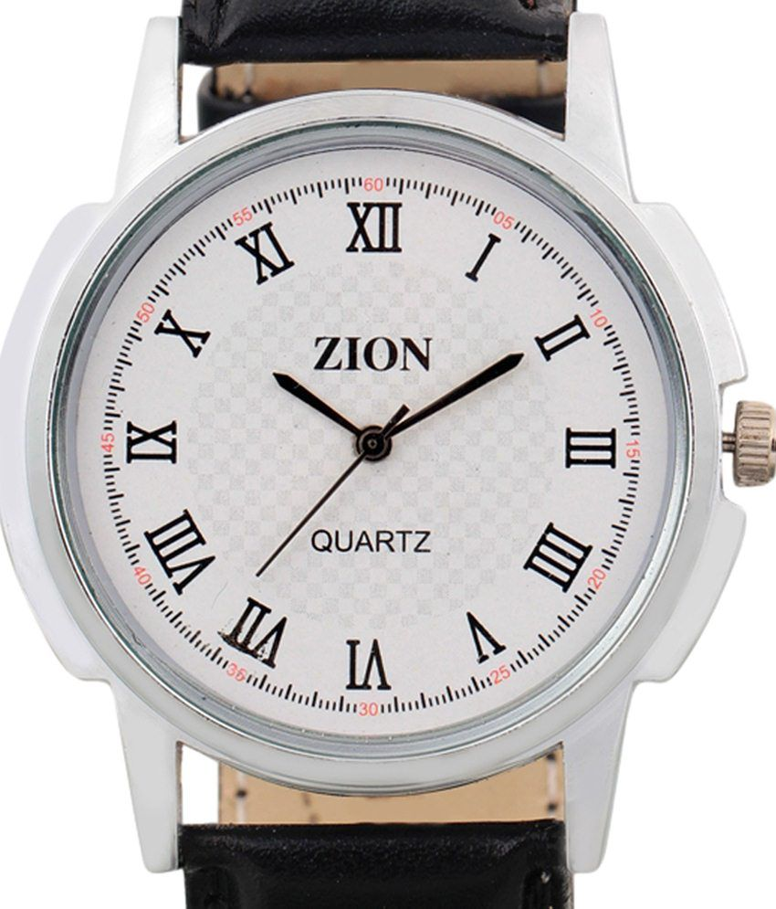 Zion Combo Of White & Black Couple Wrist Watch