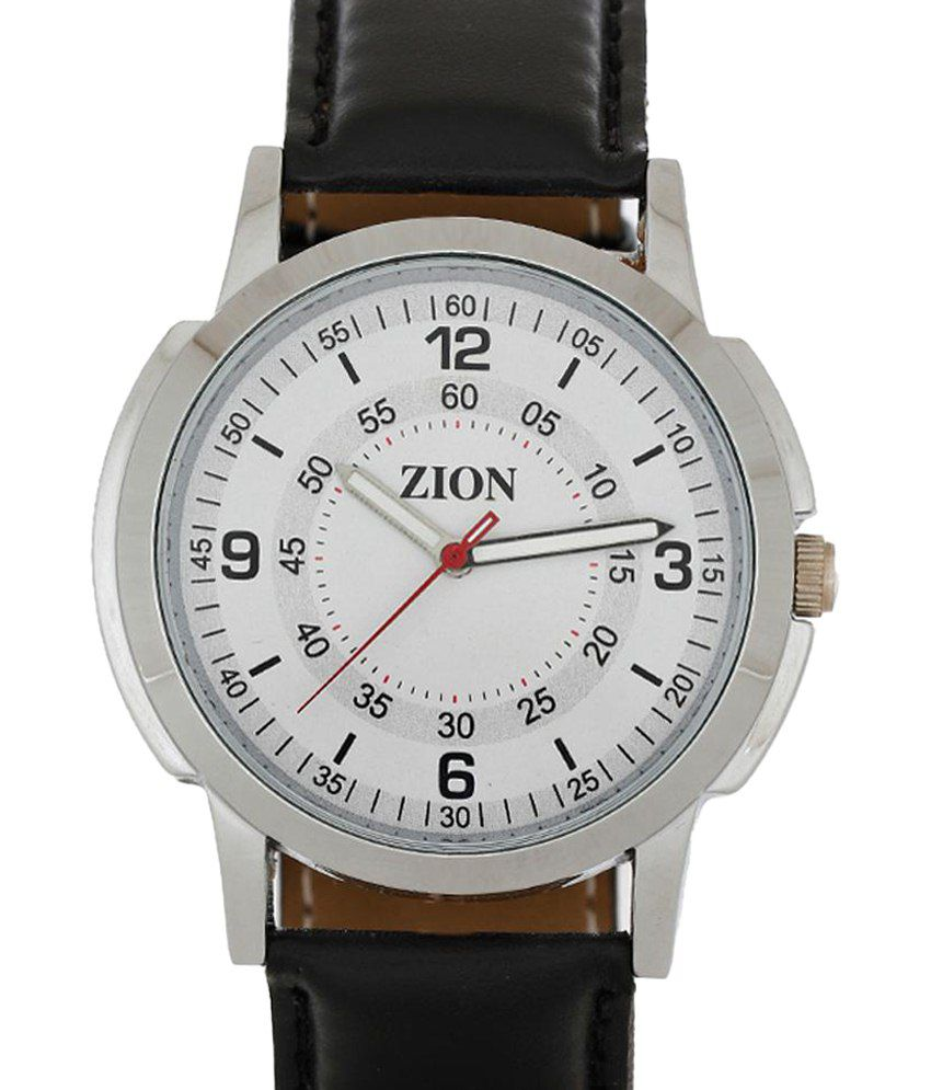 Zion Stylish Combo Of White & Black Couple Wrist Watch