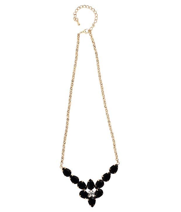 20Dresses Flowers In The Black Drops Necklace For Women