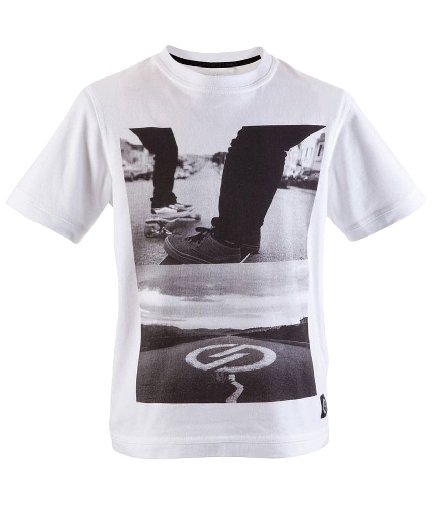 Oxelo Picture Road White Skating T Shirt
