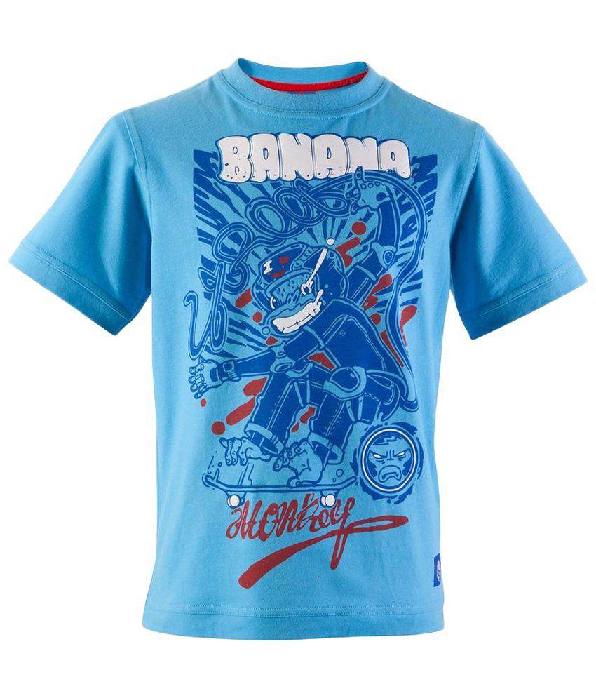 Oxelo Skate Junior Banana Blue Skating T Shirt