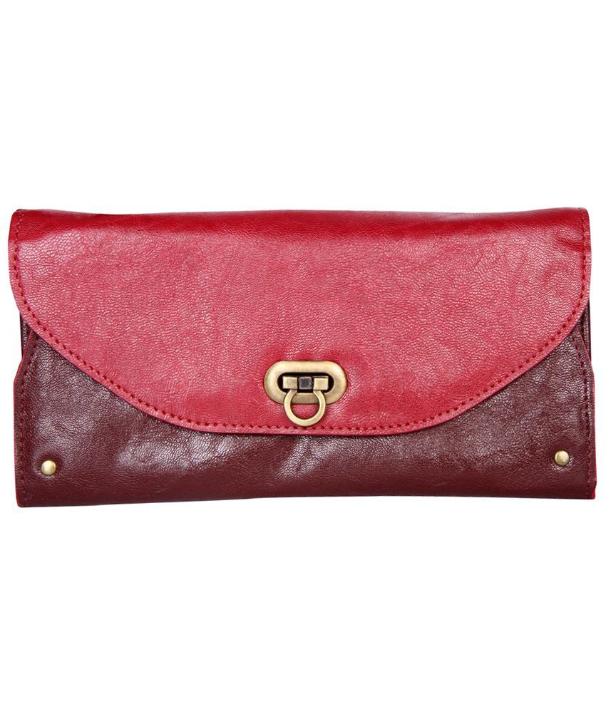 Elliza Donatein Brown & Red Wallet By Shoppers Stop