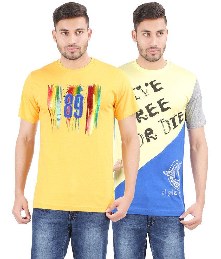 Harsha Men's Fashion Printed Round Neck Cotton T-shirt