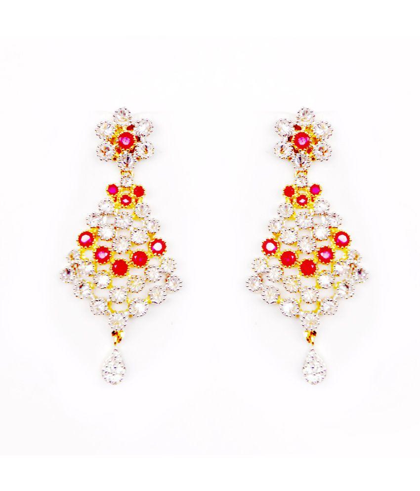 kolkata designer hub bridal gold american diamonds hangings earring