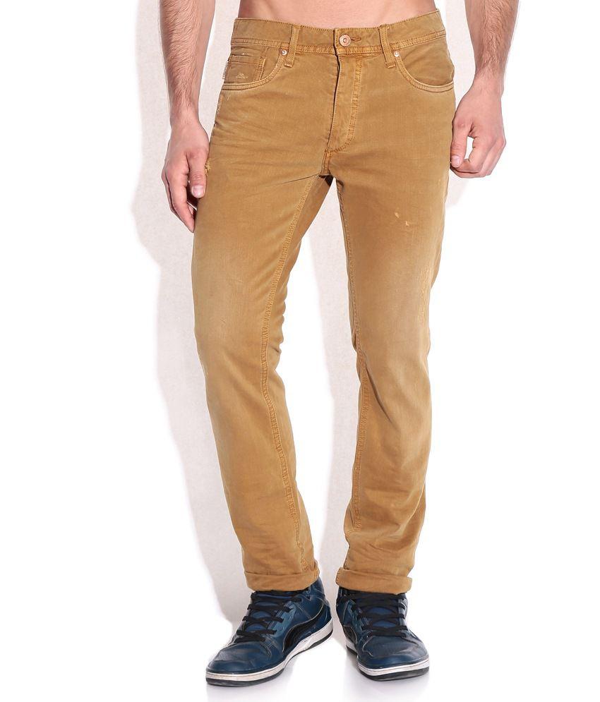 Jack & Jones Brown Slim Fit Jeans
