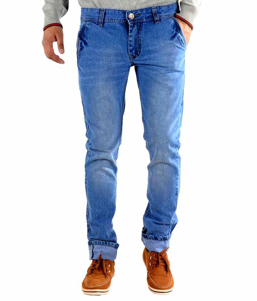 K' Live Blue Cotton Regular Fit Denim Jeans