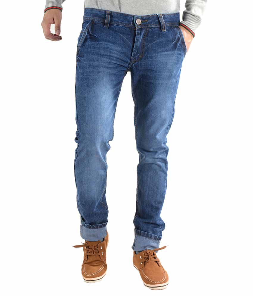 K' Live Blue Cotton Regular Fit Denim Jeans