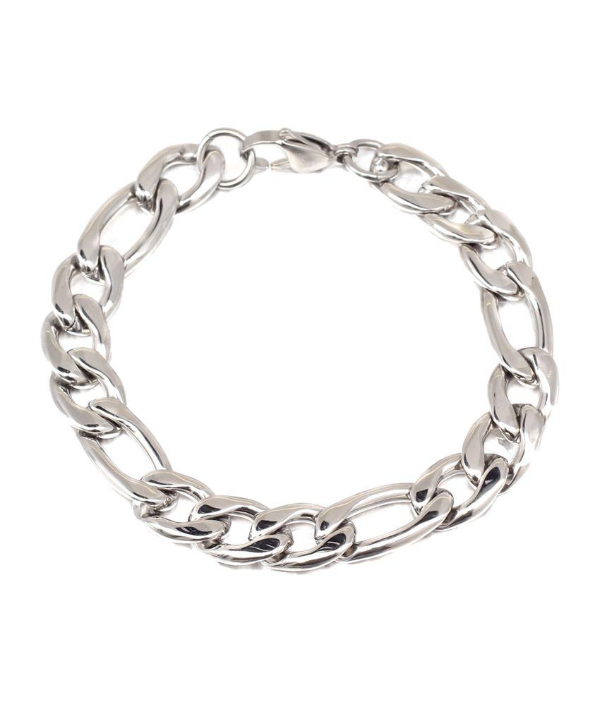 Svvelte Chunky Figaro Link Mens Stainless Steel Bracelet