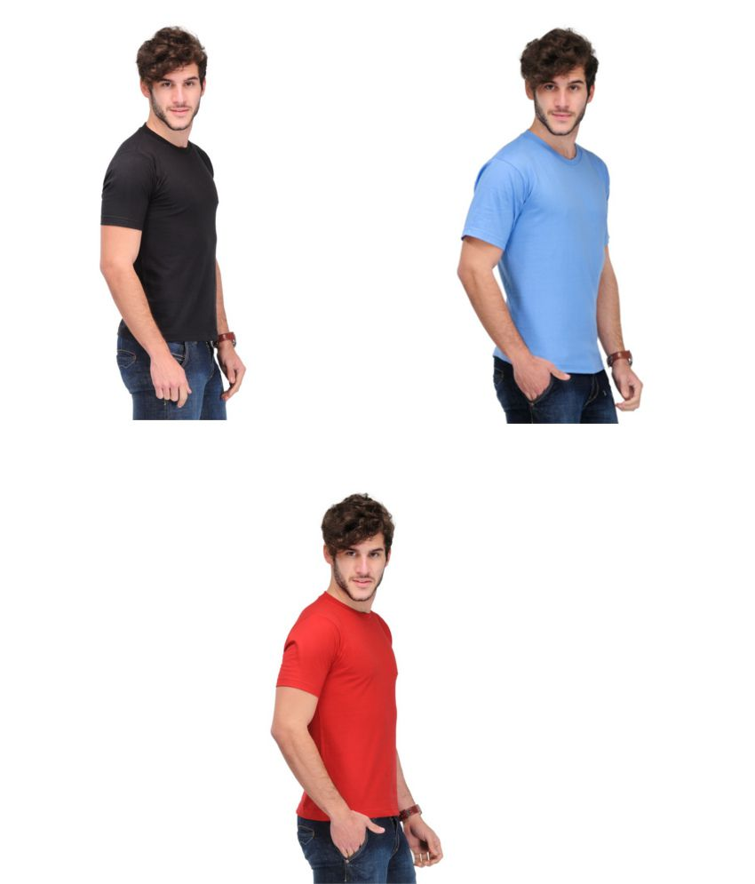 TSX Combo Of 3 Solid T-shirts