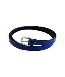 Verceys Blue Non Leather Pin Buckle Lether Casual Belt For Women