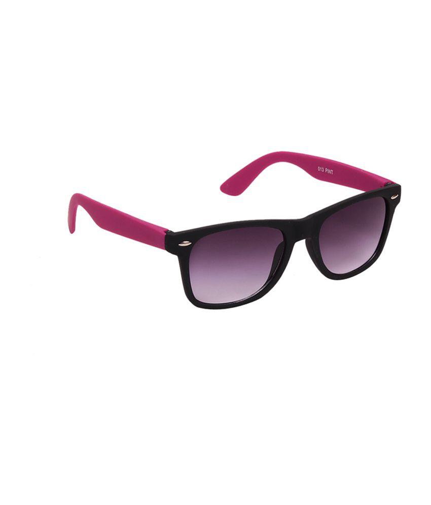 Porus Club Black & Purple Side Dull Shade Wayfarer Premium Sunglasses