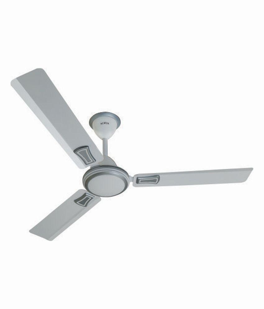 Surya 48 Stream Air C/f 1200mm Ceiling Fan White Silver