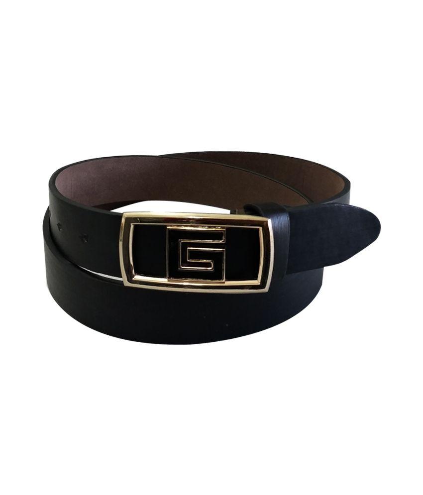 Verceys Black Autolock Buckle Lether Casual Belt For Men