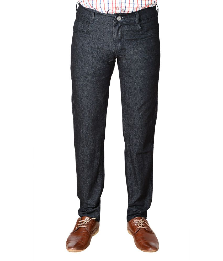 Bull Jeans Black Cotton Slim Fit Jeans