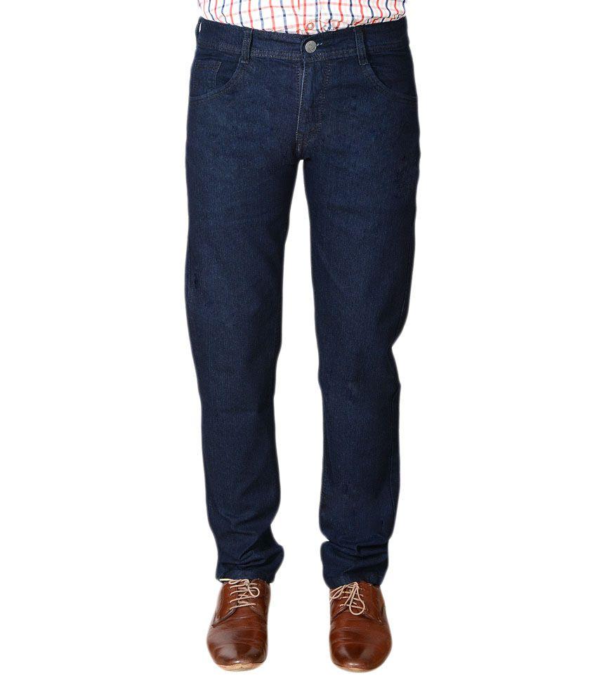 Bull Jeans Blue Cotton Slim Fit Jeans