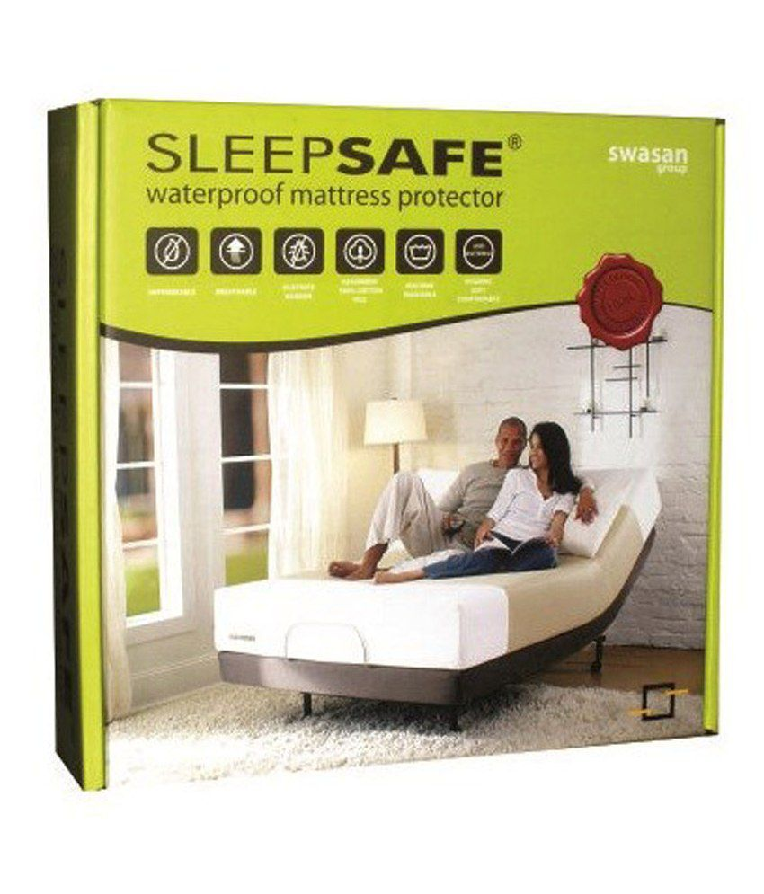 sleepsafe water proof mattress protector 75x72 double bed size buy
