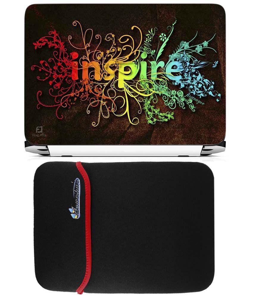 Anwesha's Reversible Laptop Sleeve with Laptop Skin - 15.6 inch Inspire