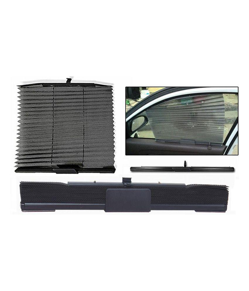 Spedy Black Car Auto Folding Sunshades Curtains For