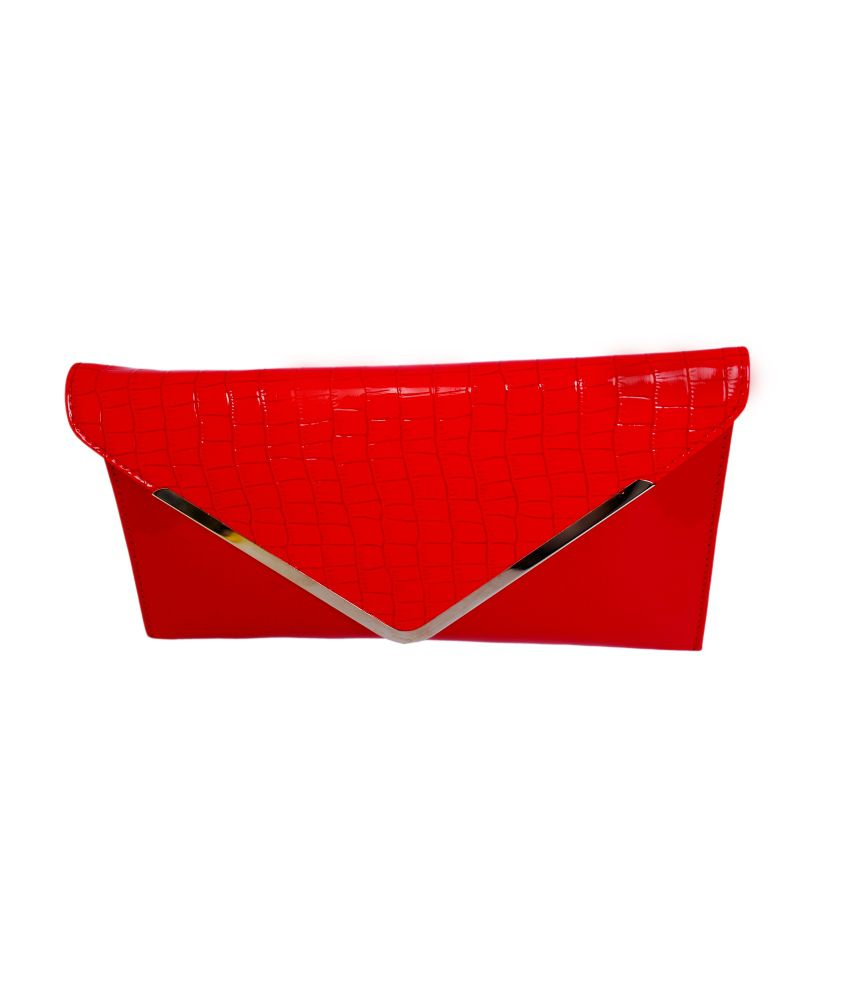 Vogue Stylist Red Clutch