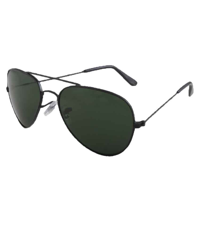 Allen Cate Black Metal Aviator Sunglasses