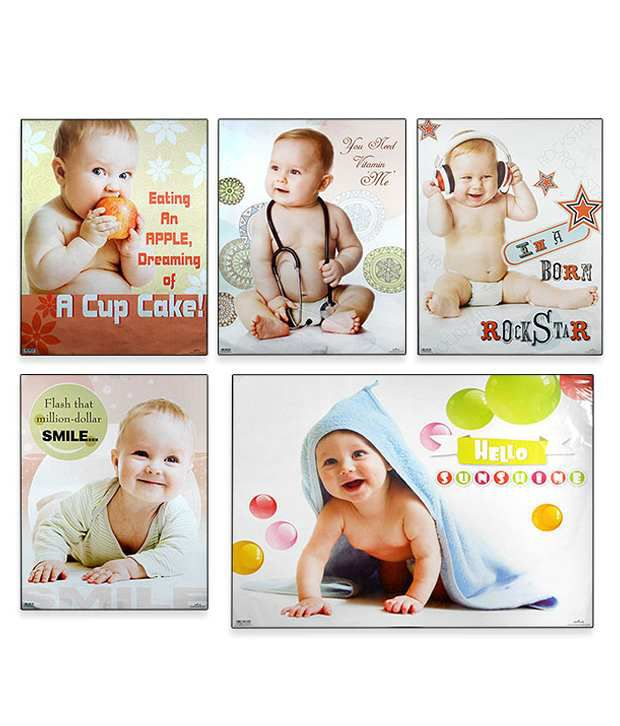 archies cute baby boy posters set of 5 buy archies cute baby boy