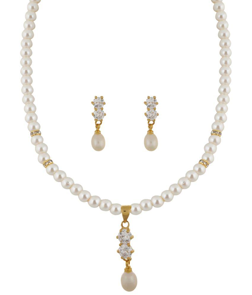 Classique Designer Jewellery Beautiful Gold Toned Pearl