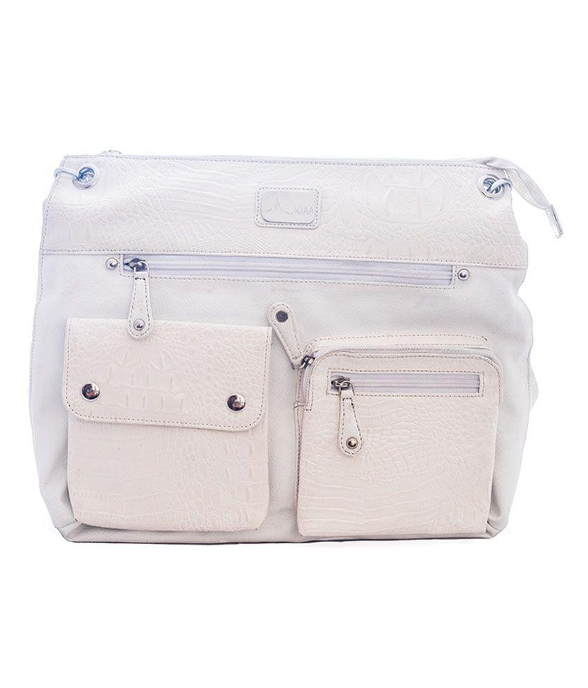 Adaa White Shoulder Bag