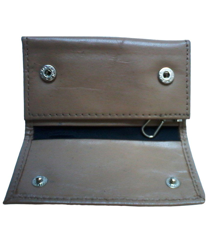 Dharavi Market Brown Leather Key Chain Holder Wallet: Buy Online at Low  Price in India - Snapdeal