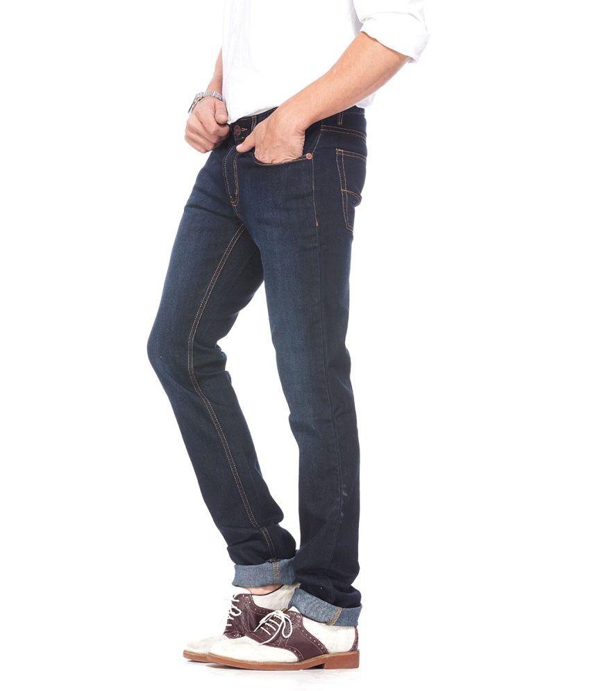 Numero Uno Men's Blue Cotton Jeans