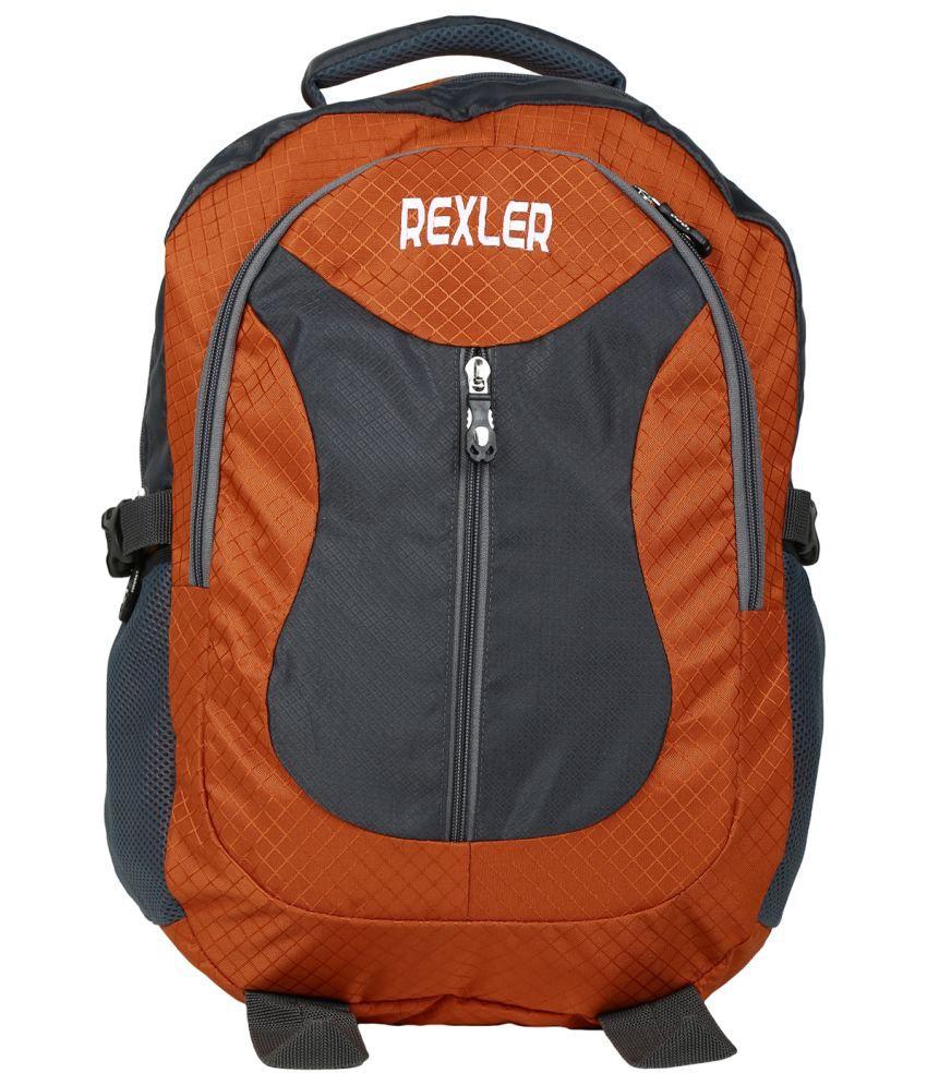 Rexler Orange Backpack With Laptop Sleeve