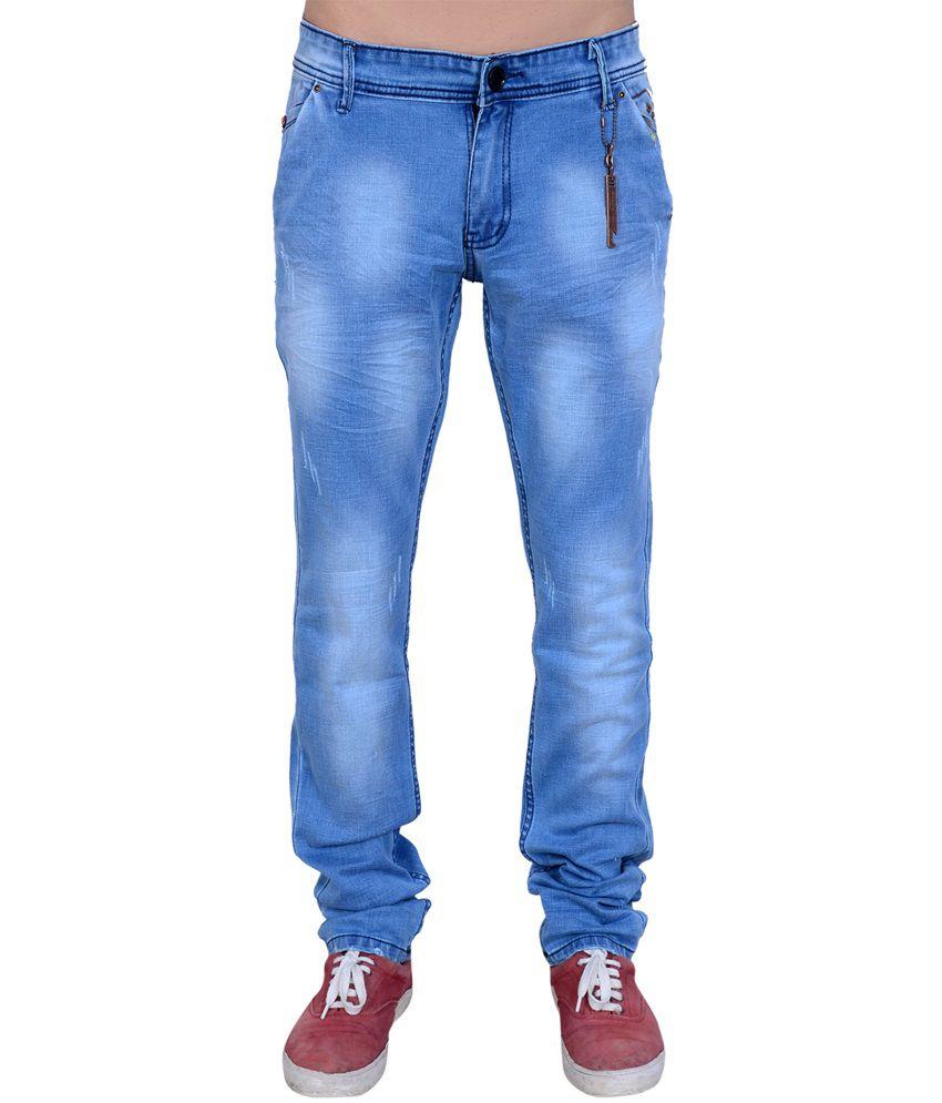 Urban Style Blue Cotton Regular fit Jeans