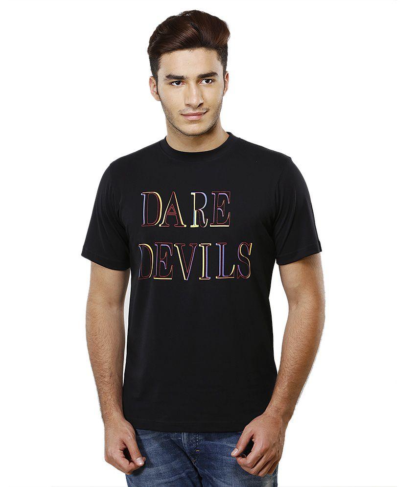 IPL T20 Delhi Daredevils Official Multi Color Delhi Daredevils Official Mens Tee (Black)
