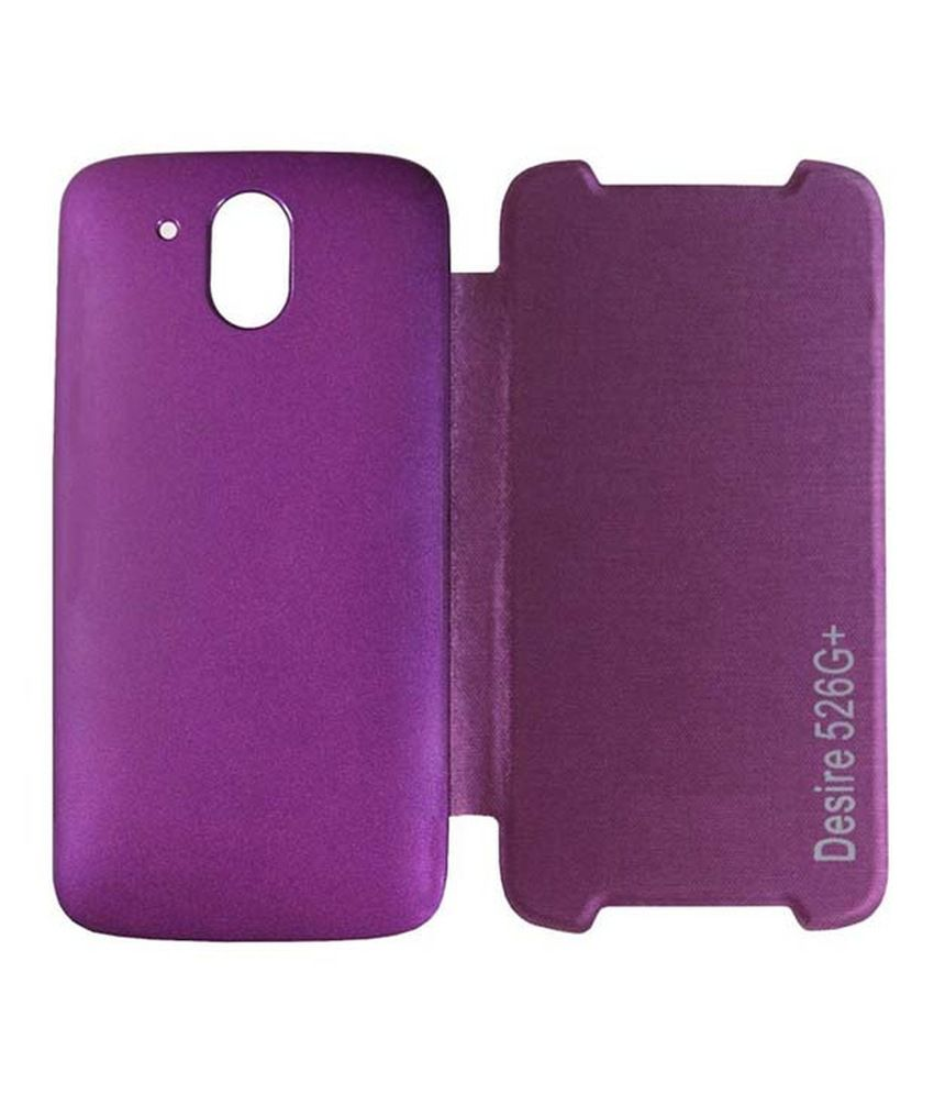 wholesale dealer c5173 08af4 Gadgetm Flip Cover For Htc Desire 526g Plus - Purple