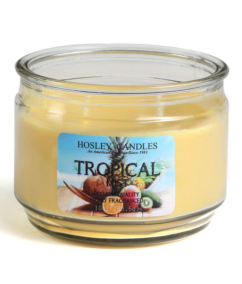 Hosley Yellow Jar Candle Single