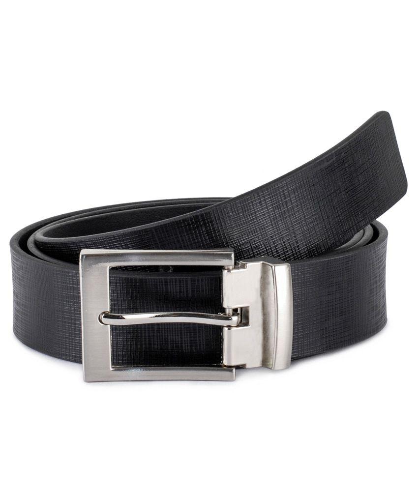 Musk Duck Black Leather Formal Belt for Men