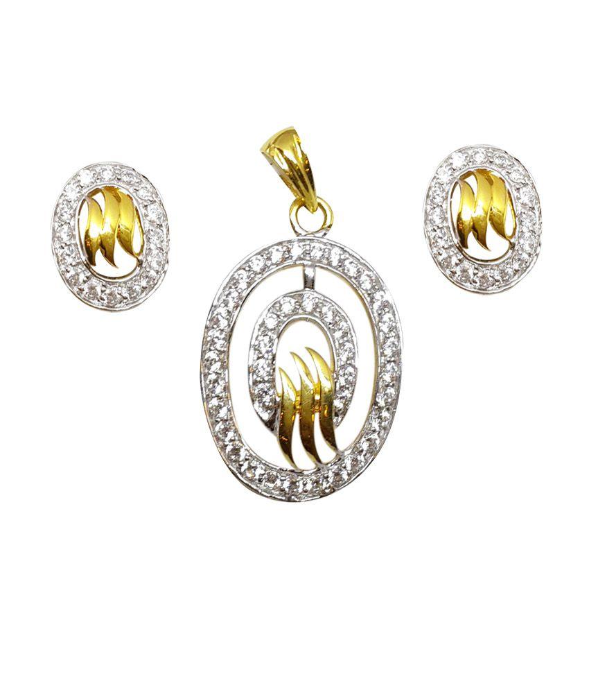 Standard Jeweller 916 Hallmark Gold Pendant Necklace Set