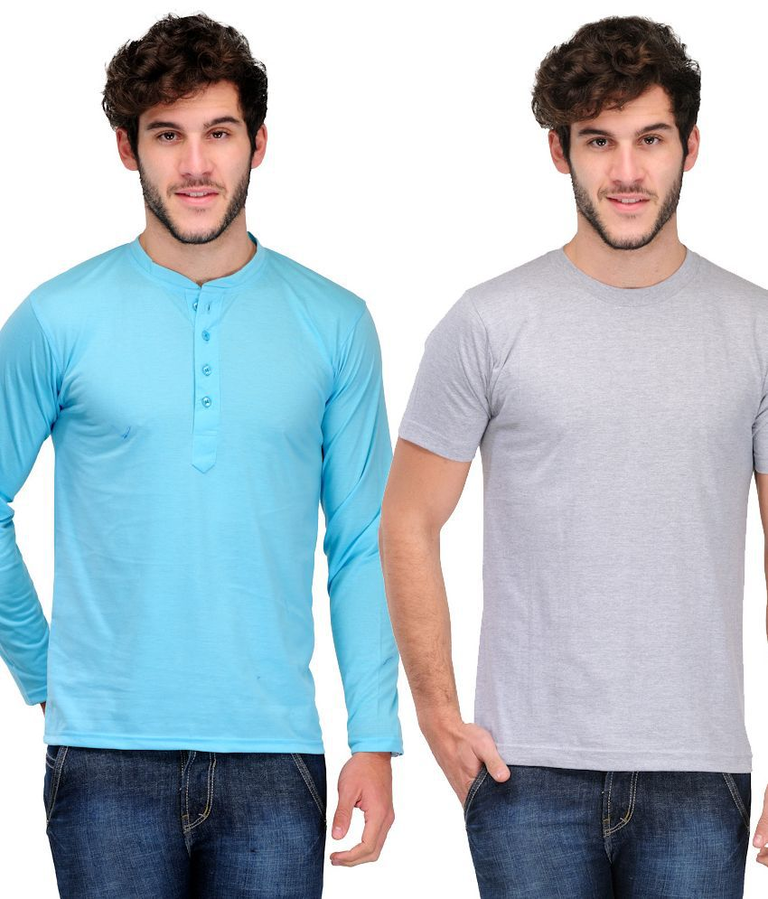 Tsx Henley And Round Neck T-shirt Set Of 2 Pieces
