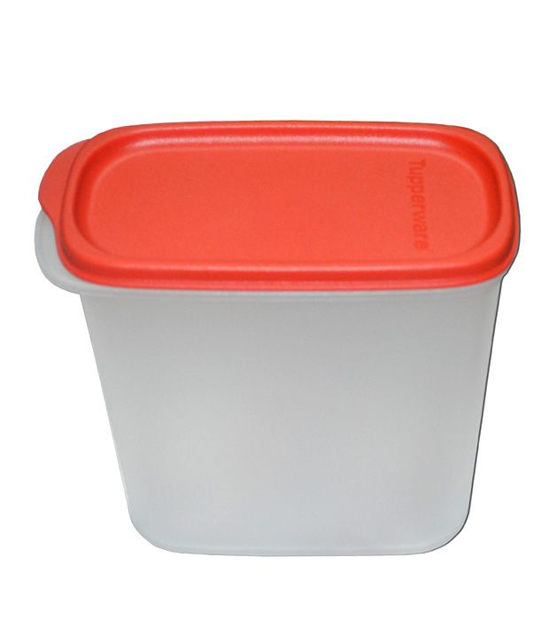 Tupperware Opaque Base With Red Seal Air Tight Plastic