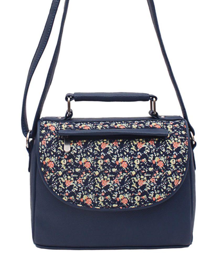 Borsavela BVSL06BD Blue Sling Bags