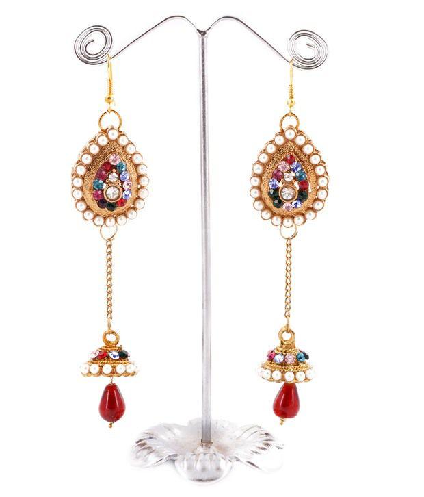 Jawahraat Multi Antique earrings