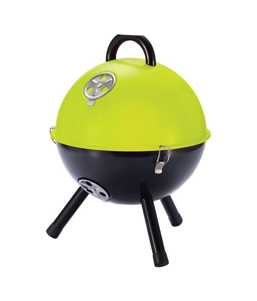 Loooqs 12 Inch Barbecue Barbeque Green and Black