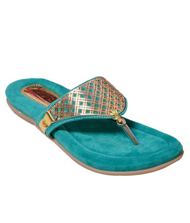 Nice Blue Flat Slip-on