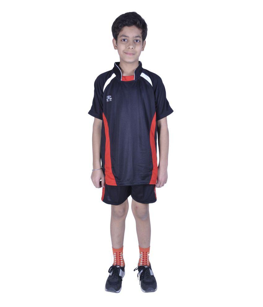 Sst Black Football Active Wear